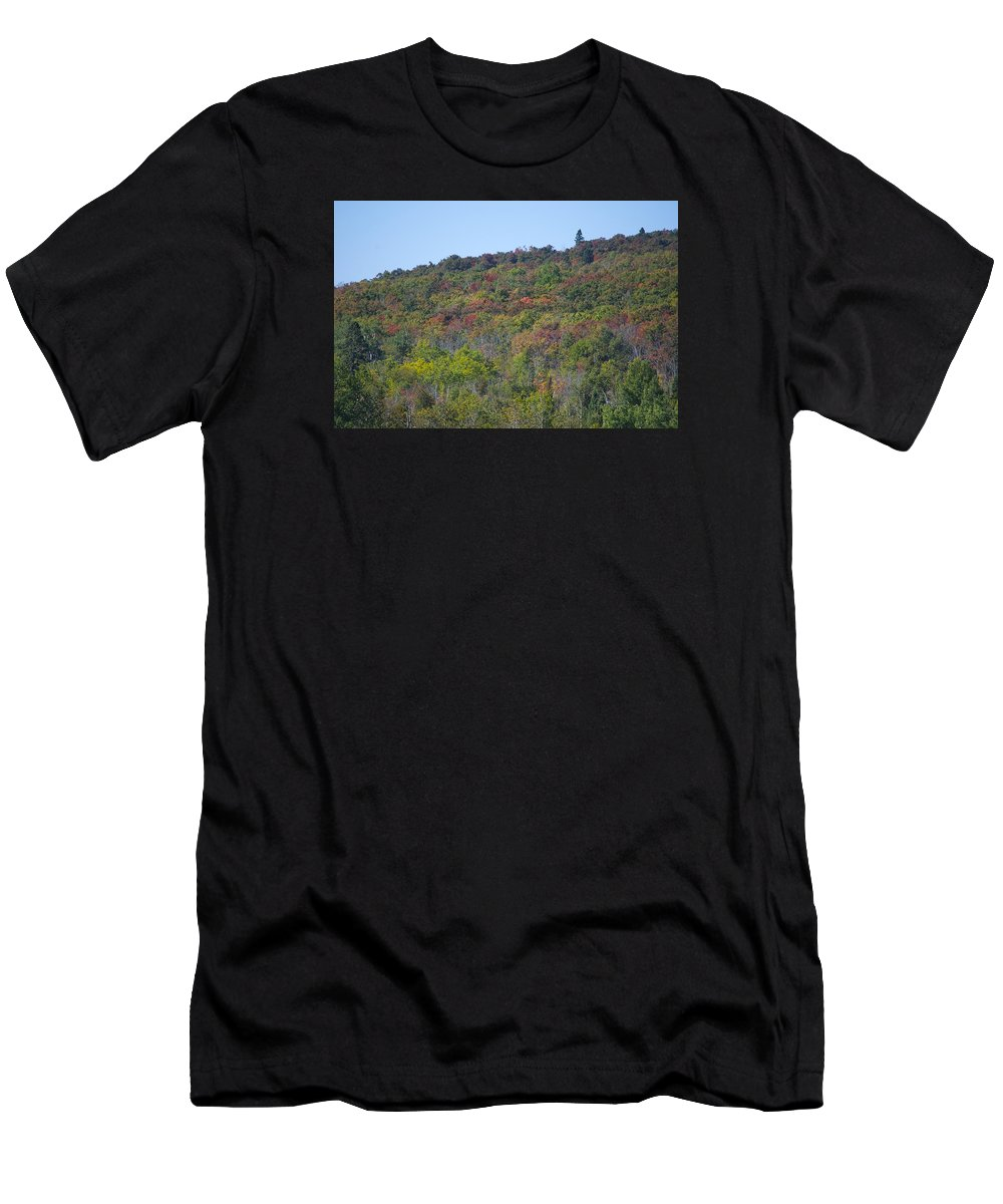 Minnesota Men's T-Shirt (Athletic Fit) featuring the photograph Dots Of Fall Colors by Hella Buchheim