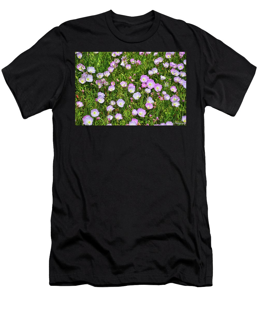Field Men's T-Shirt (Athletic Fit) featuring the photograph Dotted Meadow by Soni Macy
