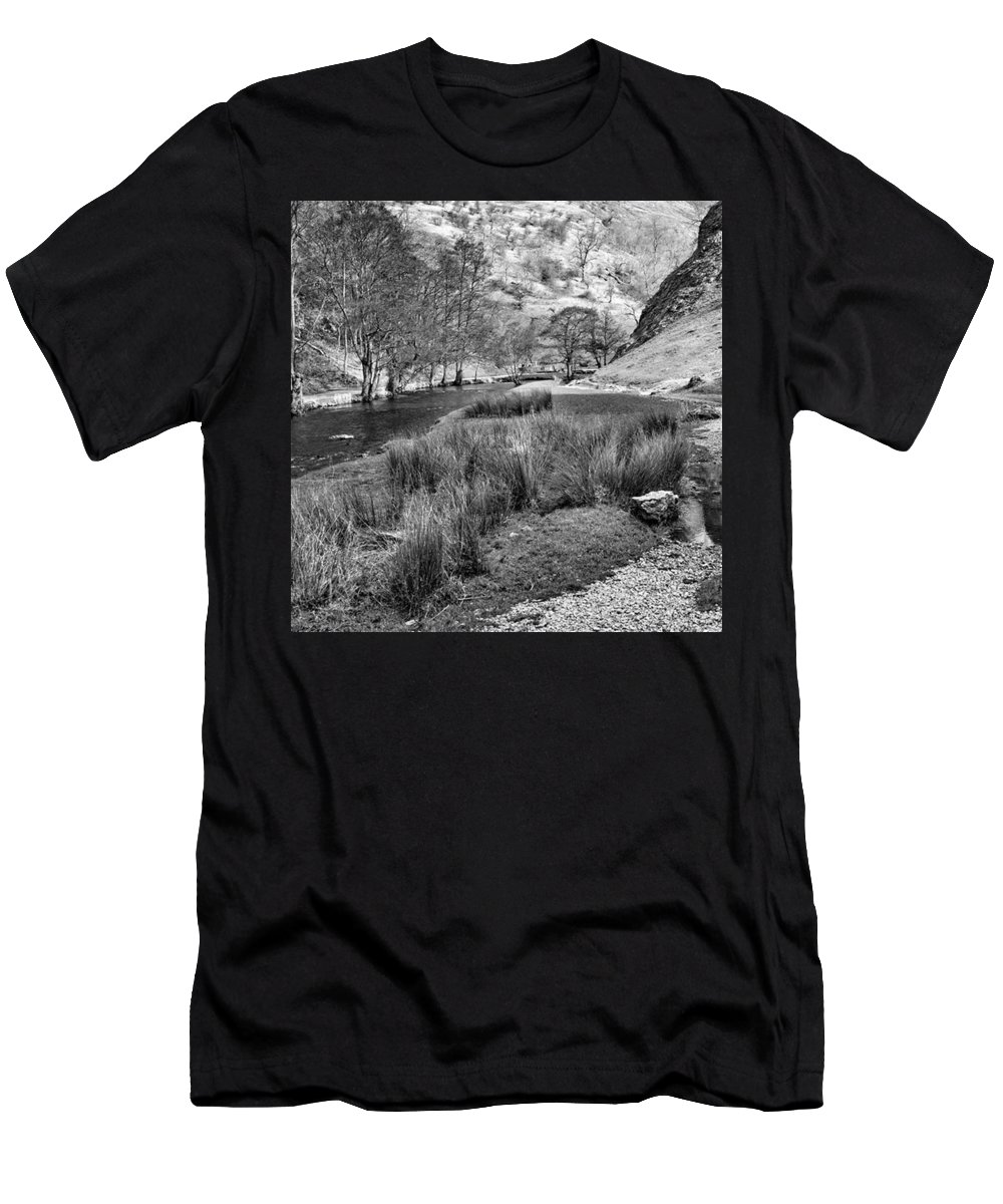 Dale Men's T-Shirt (Athletic Fit) featuring the photograph Dovedale, Peak District Uk by John Edwards