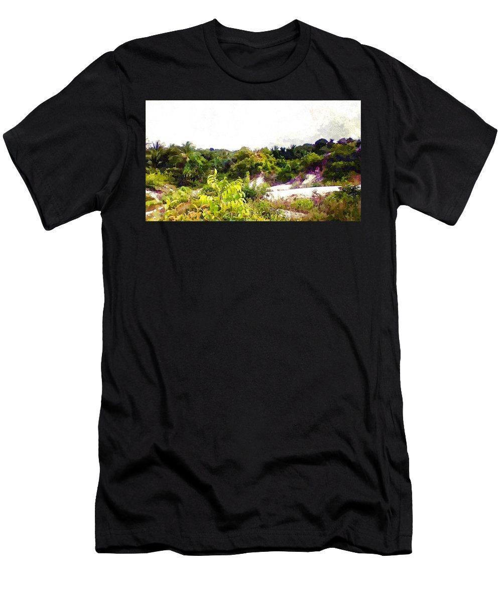 Hills Men's T-Shirt (Athletic Fit) featuring the photograph Down Hills by Alcesa Grenville