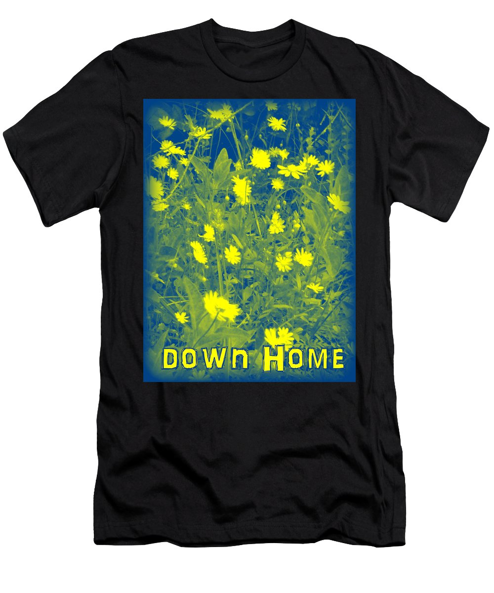 Woods Men's T-Shirt (Athletic Fit) featuring the photograph Down Home by Lesli Sherwin