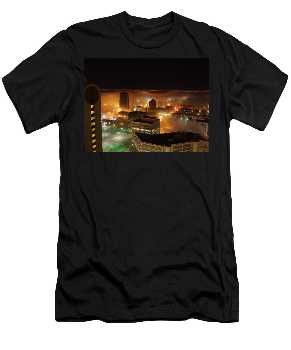 Photograph Calgary Men's T-Shirt (Athletic Fit) featuring the photograph Downdown Calgary by Seon-Jeong Kim