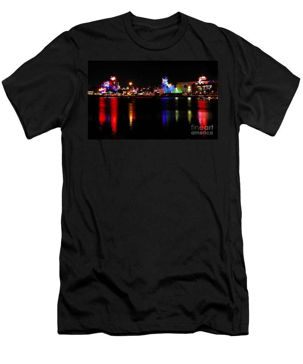 Downtown Disney Men's T-Shirt (Athletic Fit) featuring the photograph Downtown Disney by David Lee Thompson