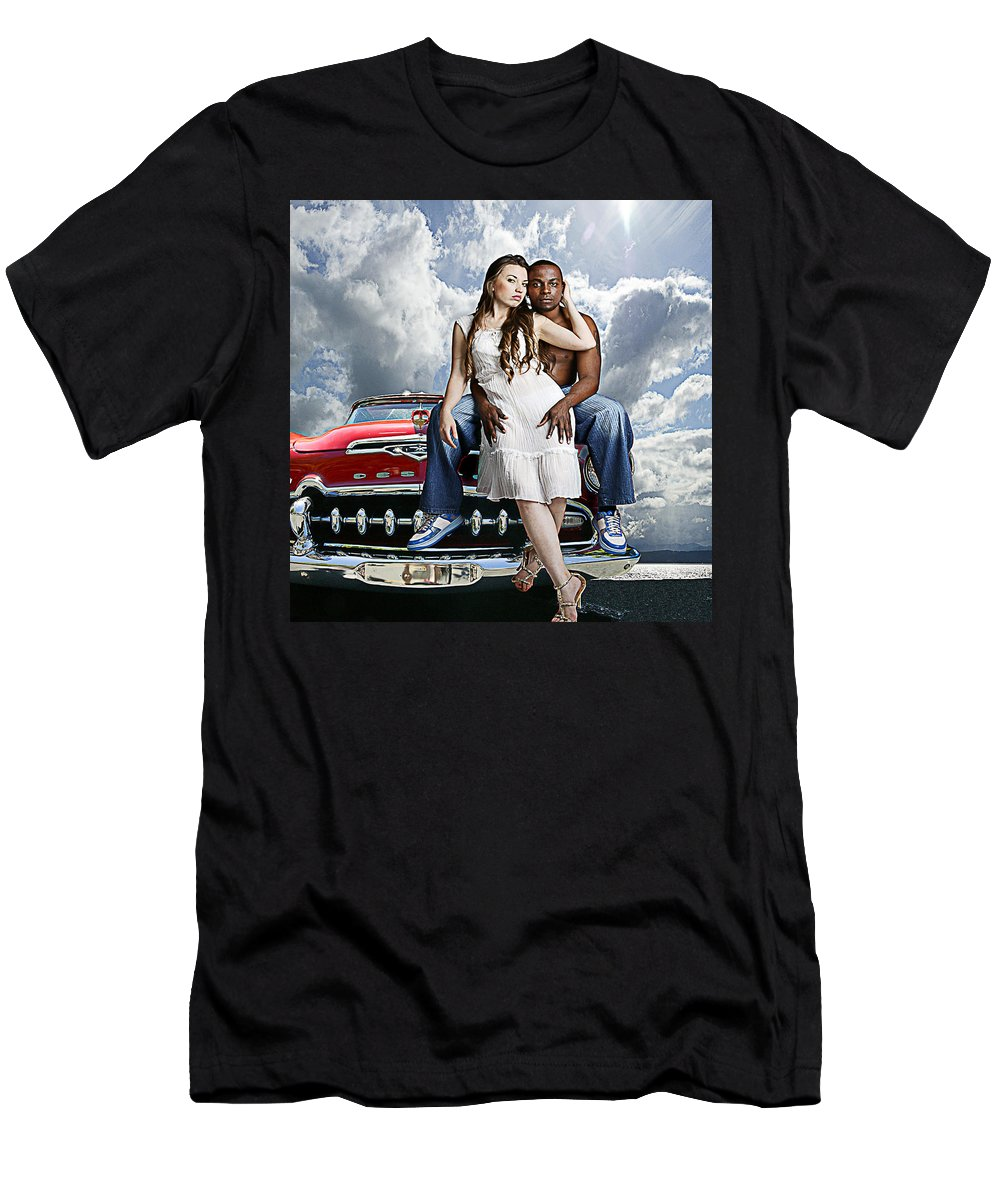 Auto Men's T-Shirt (Athletic Fit) featuring the photograph Downtown by Jeff Burgess