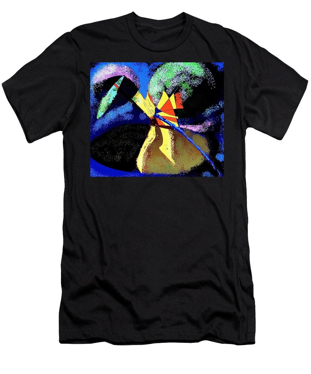 Digital Drawing Men's T-Shirt (Athletic Fit) featuring the digital art Dragon Killer by Ian MacDonald