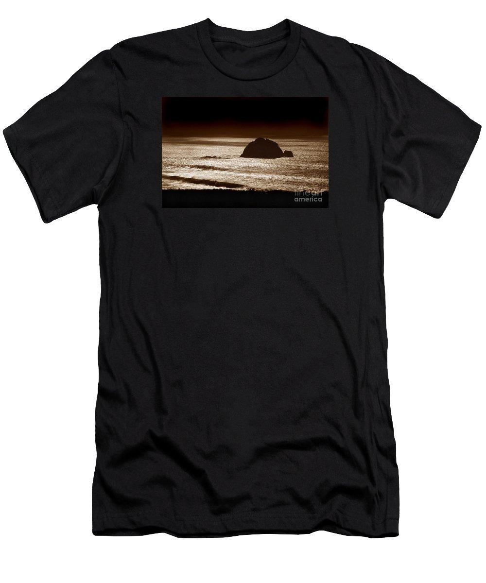 Big Sur Men's T-Shirt (Athletic Fit) featuring the photograph Drama On Big Sur by Michael Ziegler