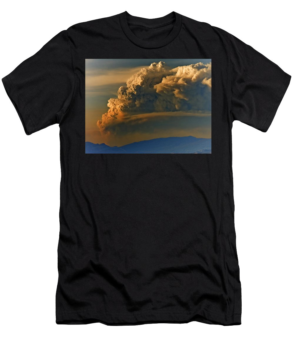 Clouds Men's T-Shirt (Athletic Fit) featuring the photograph Dramatic Clouds by Naman Imagery