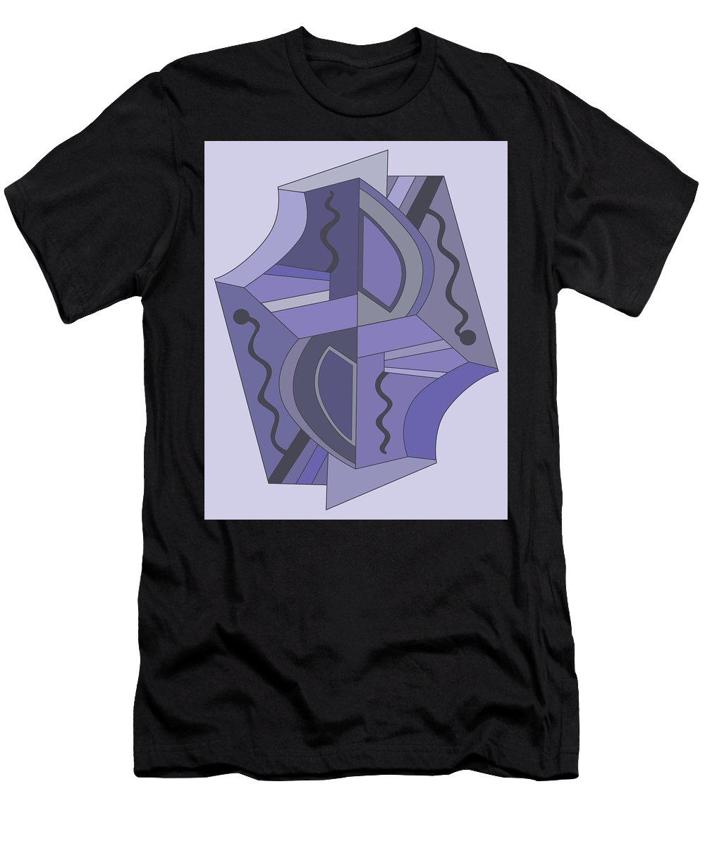 Illustration Men's T-Shirt (Athletic Fit) featuring the drawing Drawn2abstract229 by Maggie Mijares