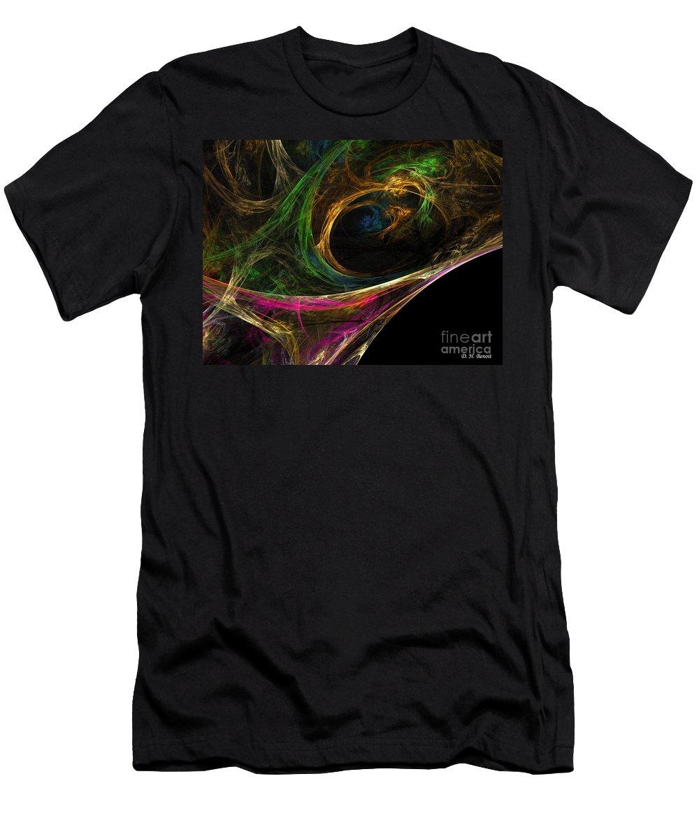 Men's T-Shirt (Athletic Fit) featuring the digital art Dream Channel by Deborah Benoit