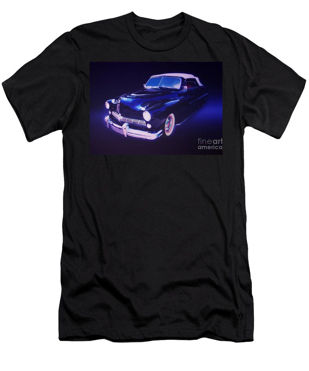 Automotive Men's T-Shirt (Athletic Fit) featuring the photograph Dream Cruise Convertible by Thomas Burtney