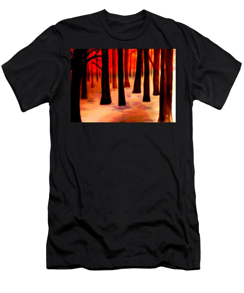 Trees Men's T-Shirt (Athletic Fit) featuring the digital art Dream Forest by Klaus Engels