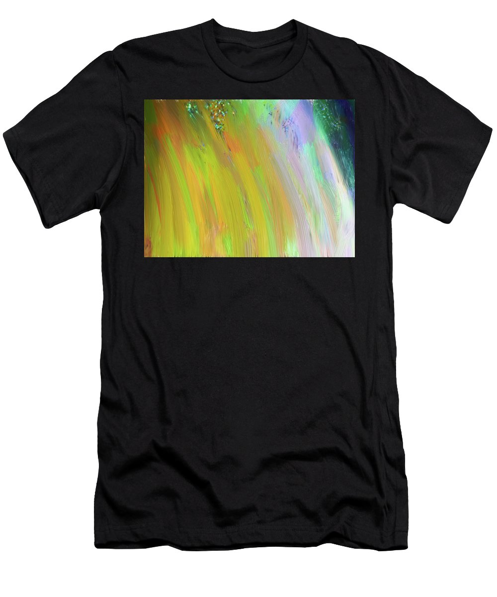 Pastels Men's T-Shirt (Athletic Fit) featuring the digital art Dream Galaxy by Karen Nicholson