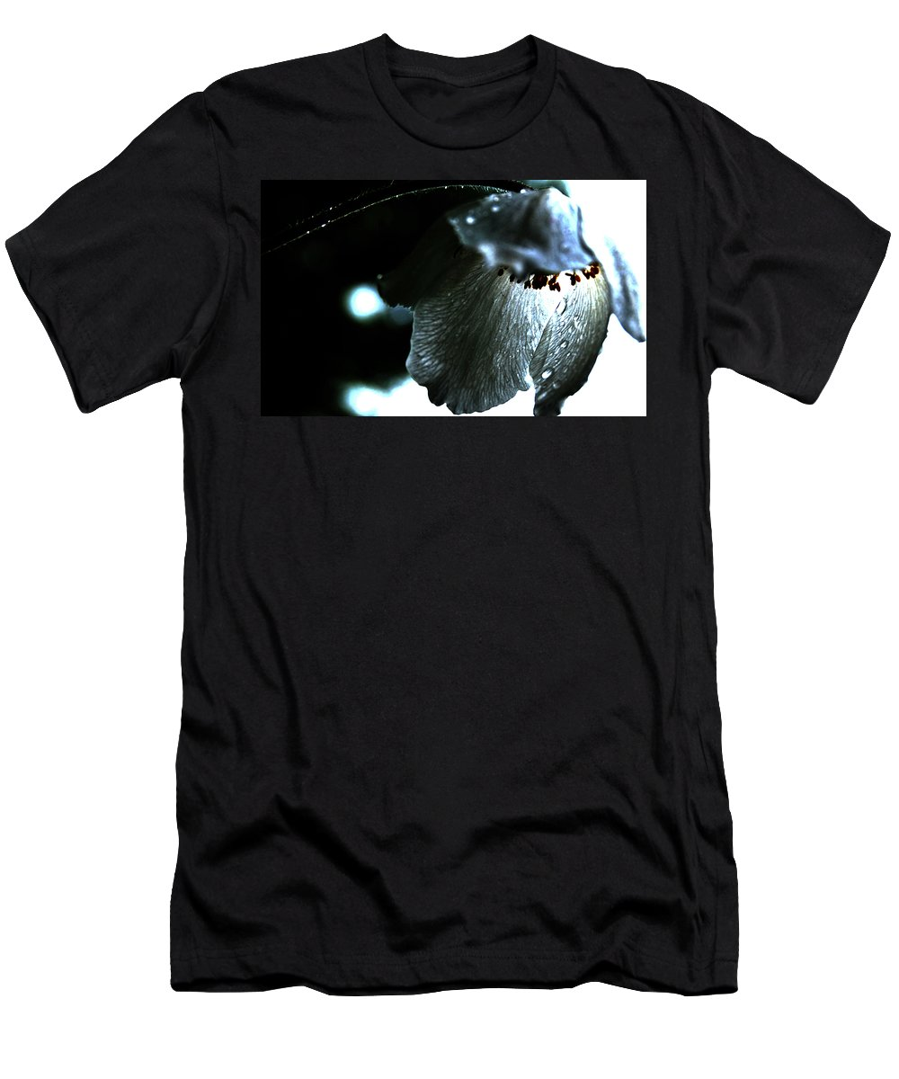 Sex Flower Men's T-Shirt (Athletic Fit) featuring the photograph Dream Weep by The Artist Project