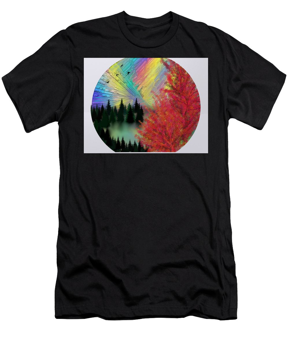 Zh Dove Men's T-Shirt (Athletic Fit) featuring the digital art Dream by ZH Dove