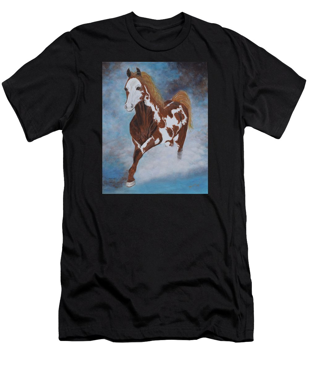 Horse Men's T-Shirt (Athletic Fit) featuring the painting Dreamer by Belinda Nagy
