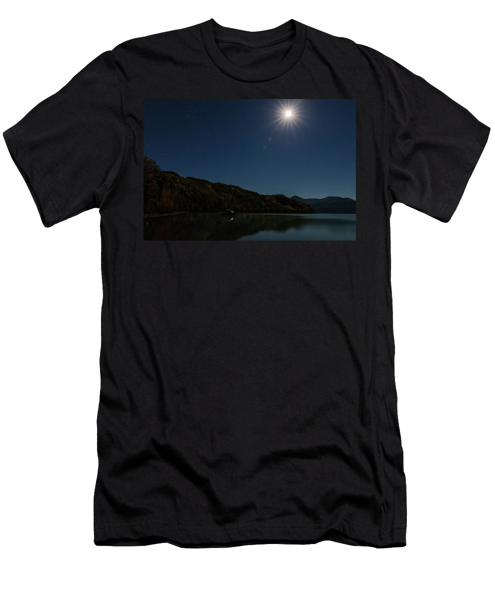 Alaska Men's T-Shirt (Athletic Fit) featuring the photograph Dreaming Of Fishing by Ray Bulson