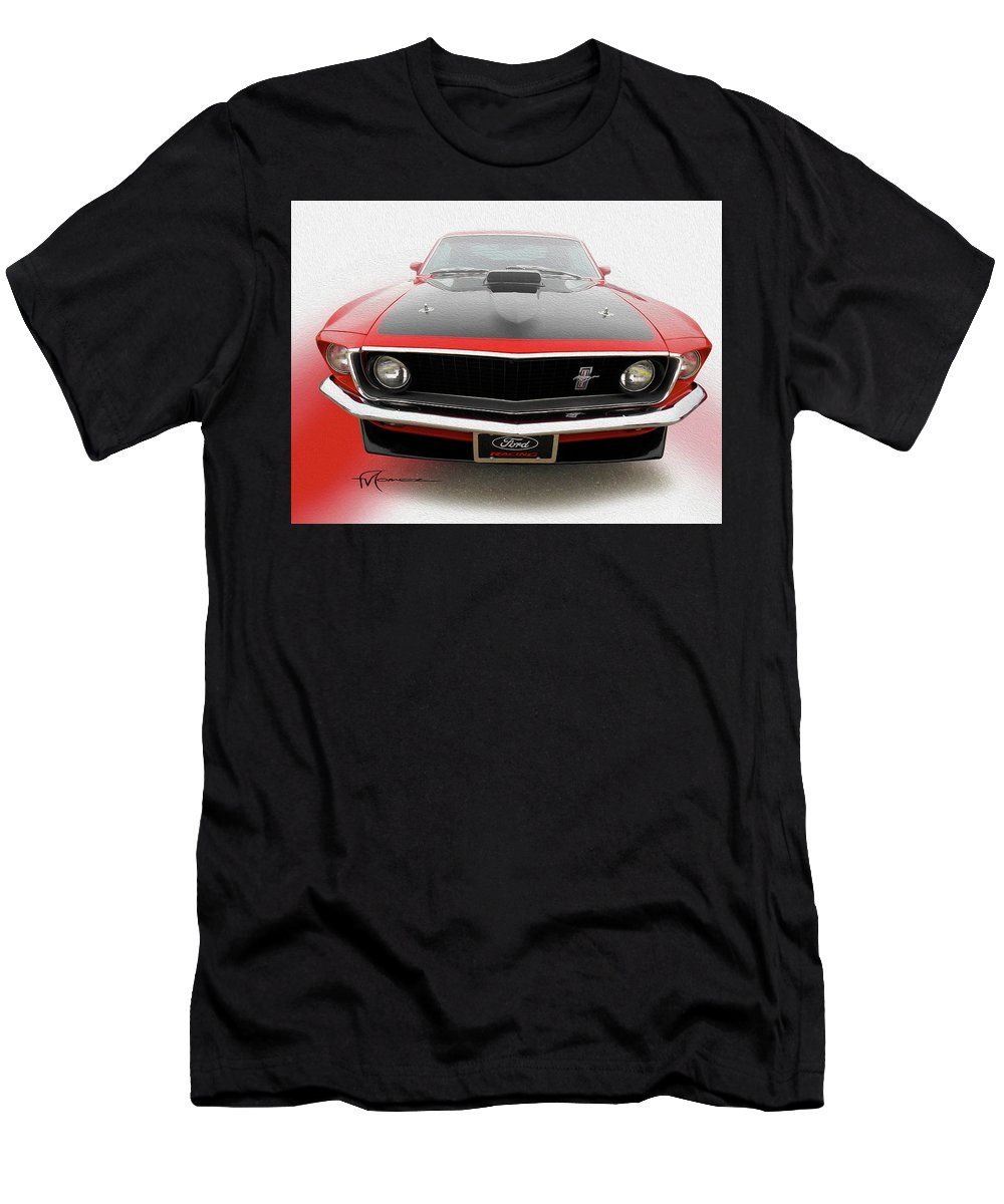 Classic Automobiles Men's T-Shirt (Athletic Fit) featuring the photograph Dream_mustang42 by Felipe Gomez