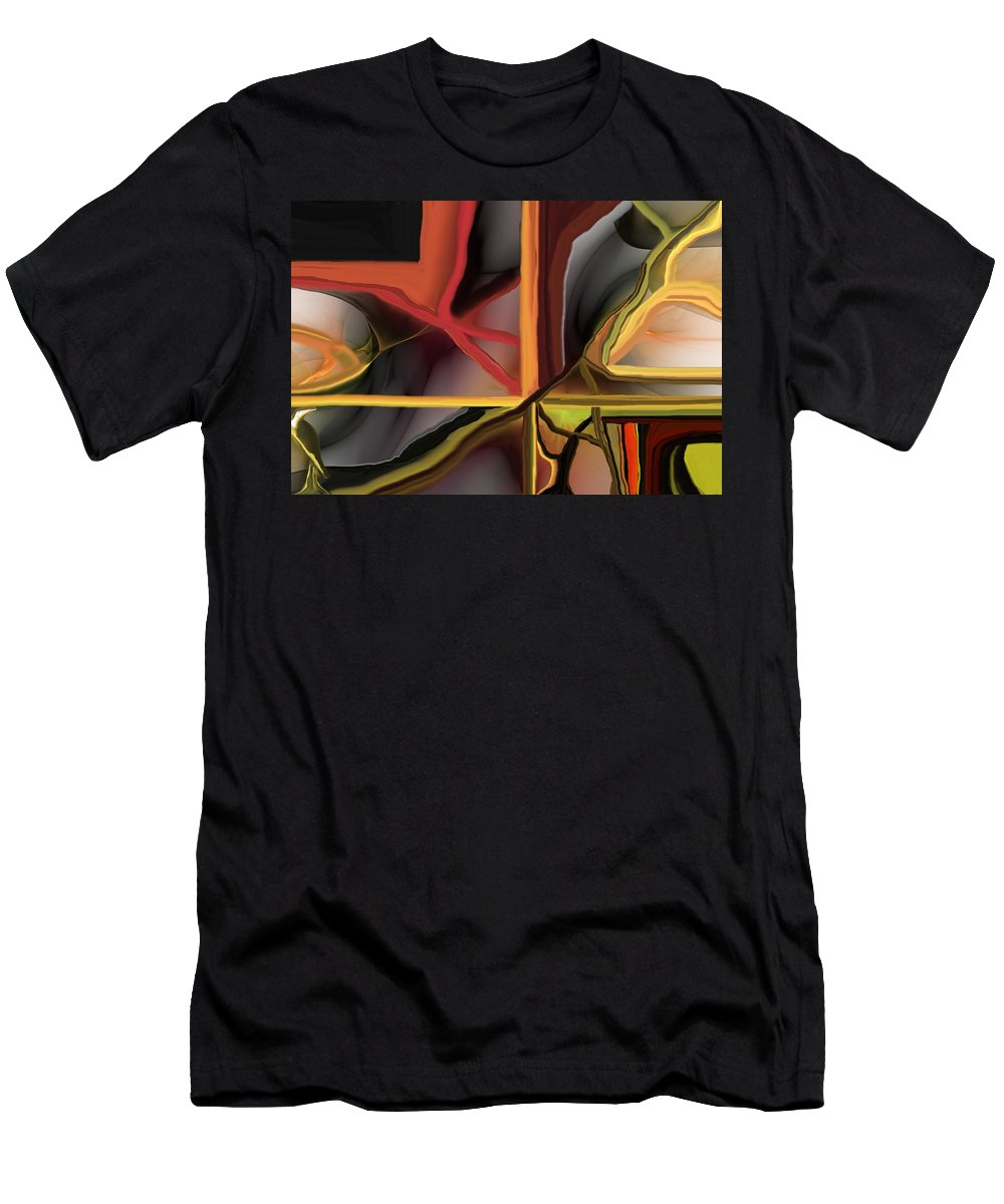 Abstract Men's T-Shirt (Athletic Fit) featuring the digital art Dreamscape 062510 by David Lane