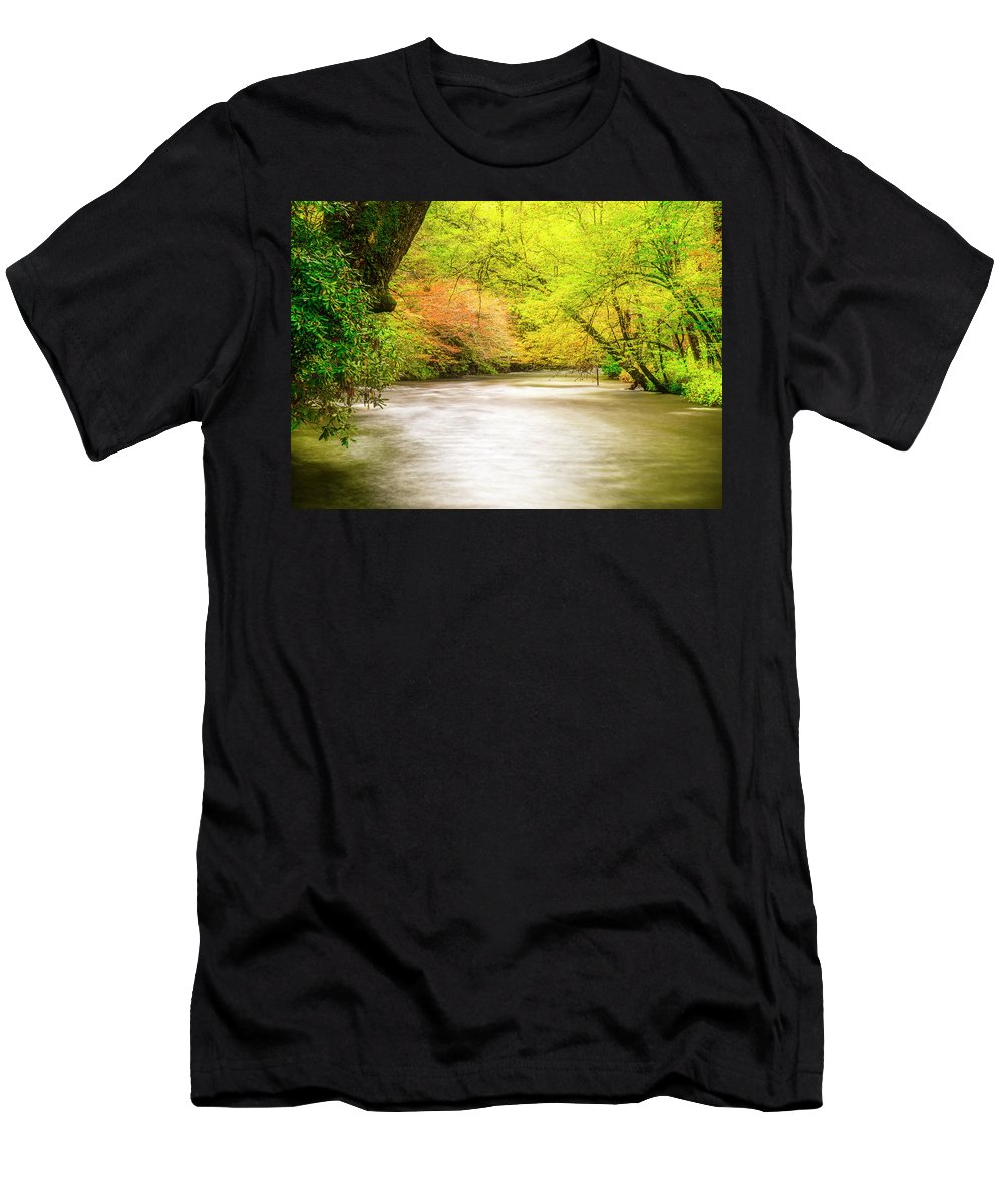 Stream Men's T-Shirt (Athletic Fit) featuring the photograph Dreamy Days by Andy Crawford