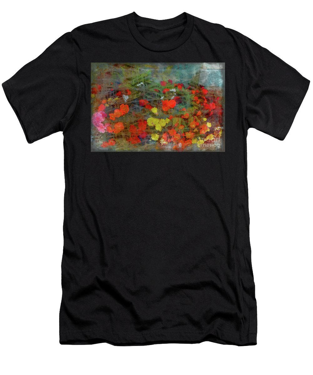 Photograph Men's T-Shirt (Athletic Fit) featuring the photograph Dreamy Flowers by Peter Orthmann