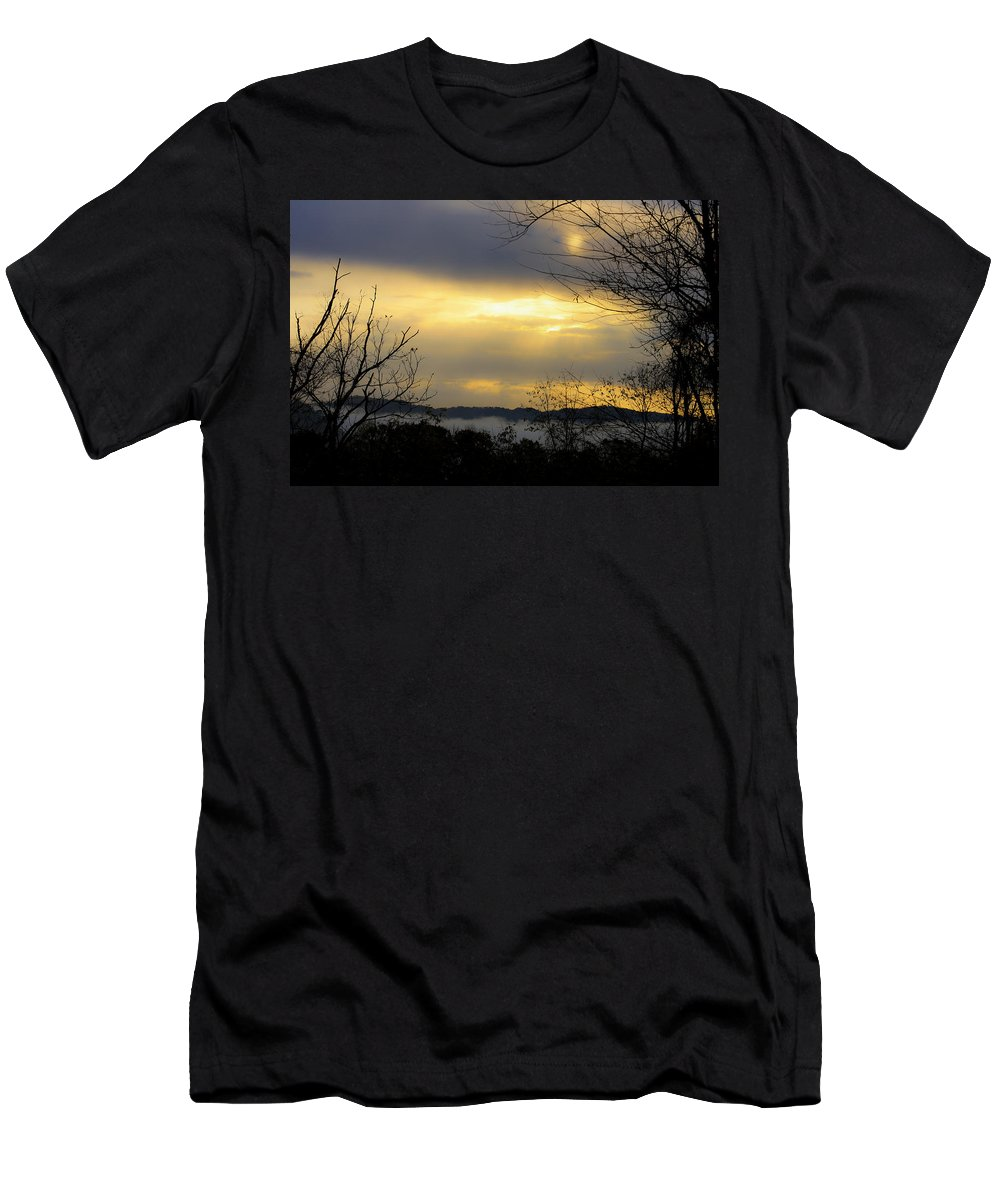Sunrise Men's T-Shirt (Athletic Fit) featuring the photograph Dreamy Sunrise by Teresa Mucha