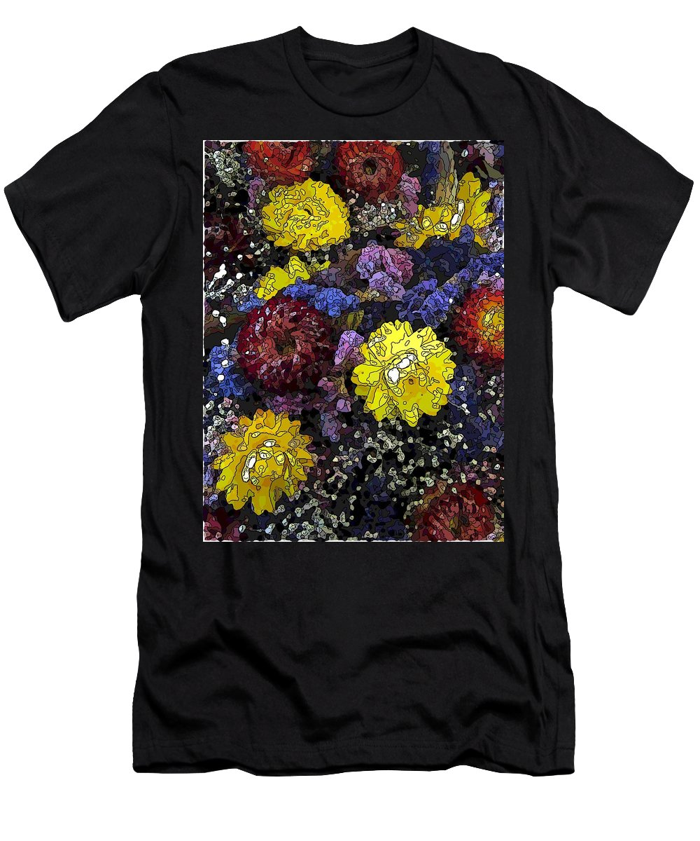 Abstract Men's T-Shirt (Athletic Fit) featuring the digital art Dried Delight 3 by Tim Allen