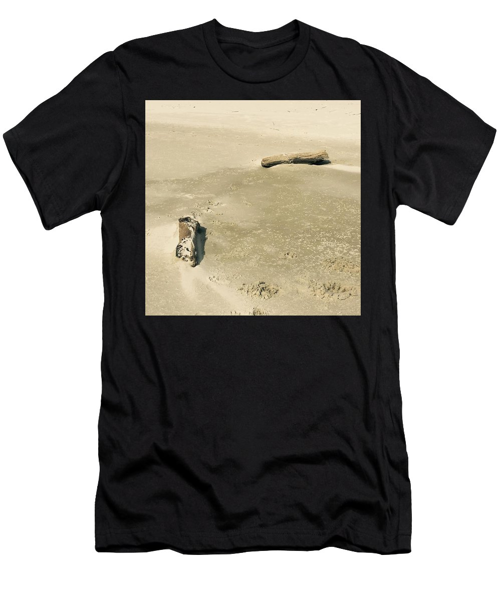 Landscape Men's T-Shirt (Athletic Fit) featuring the photograph Driftwood by Amber Skinner