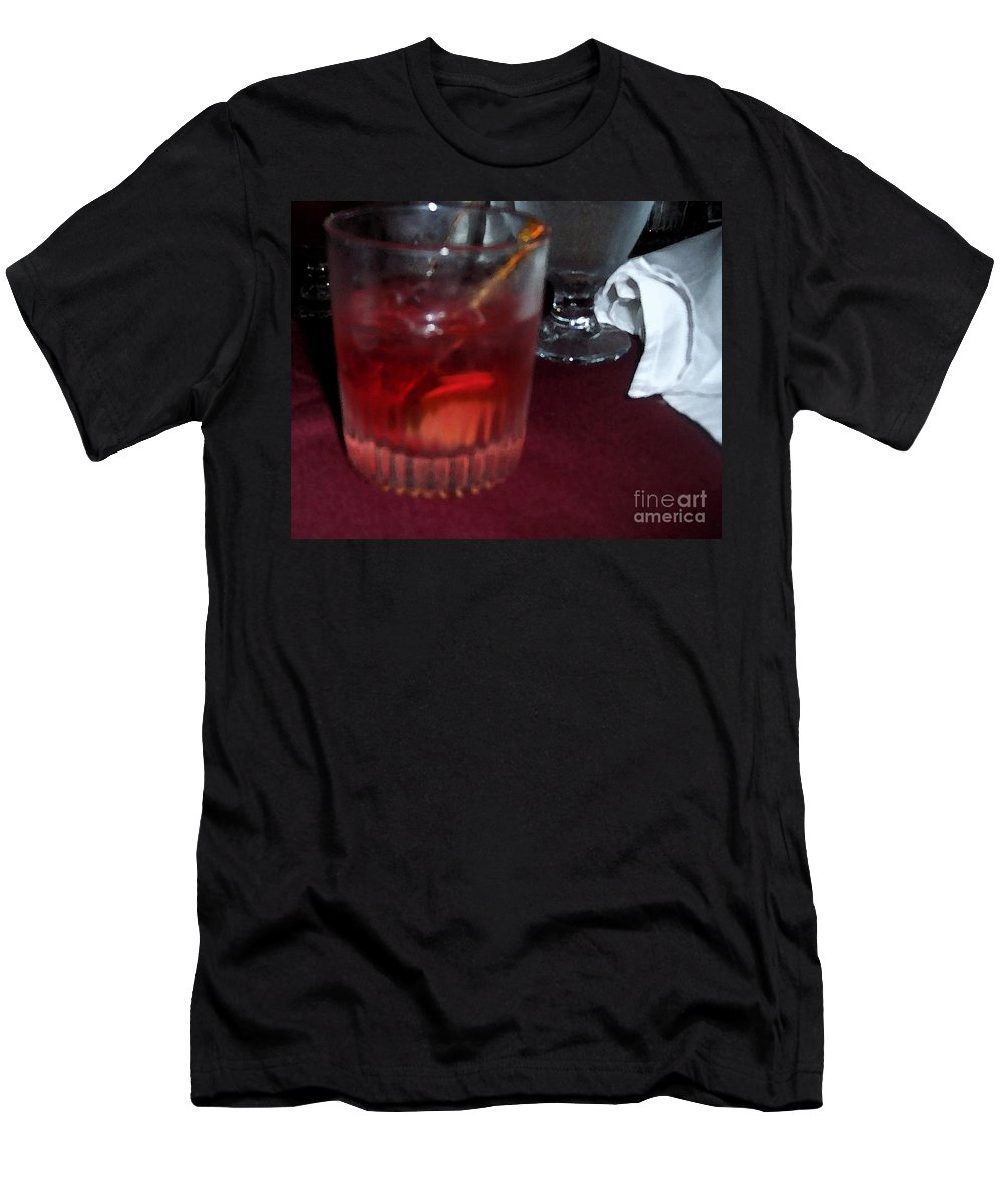 Drinks Men's T-Shirt (Athletic Fit) featuring the photograph Drink Up by Debbi Granruth