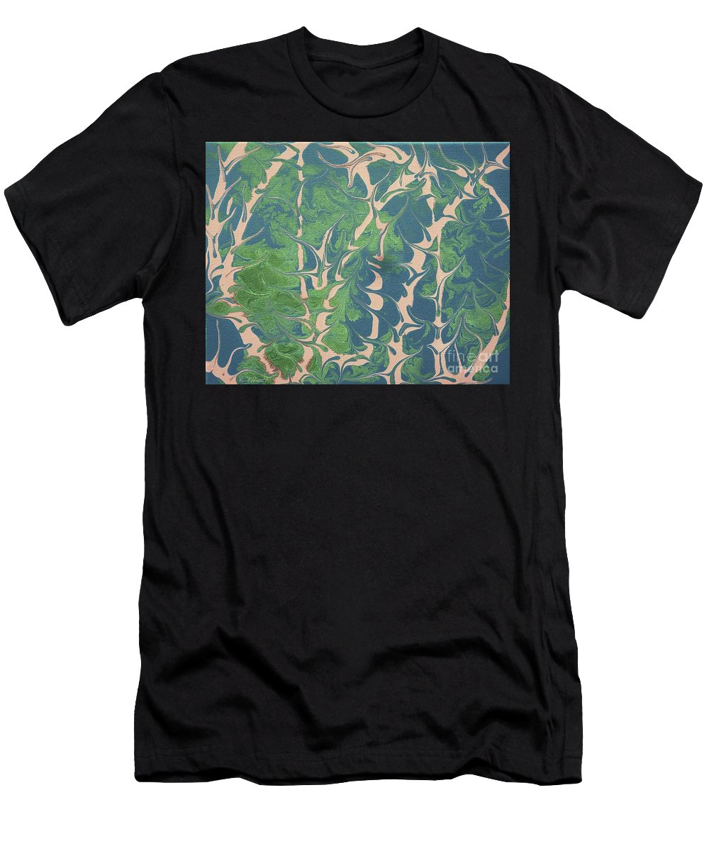 Keith Elliott Men's T-Shirt (Athletic Fit) featuring the painting Drive Naked - V1lsg100 by Keith Elliott