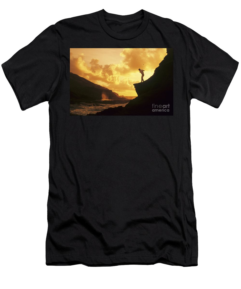 Amazing Men's T-Shirt (Athletic Fit) featuring the photograph Driving Off A Cliff by Dana Edmunds - Printscapes