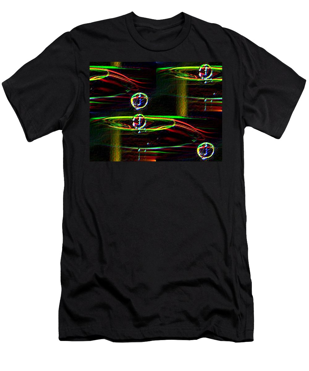 Water Men's T-Shirt (Athletic Fit) featuring the photograph Droplet by Tim Allen