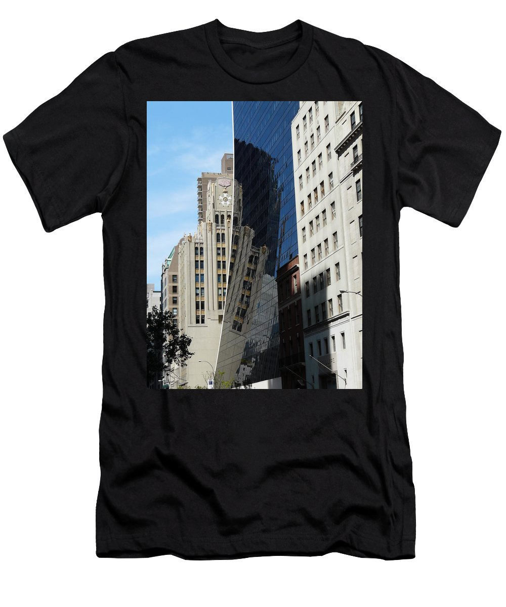 New York Men's T-Shirt (Athletic Fit) featuring the photograph Drowning By Reflection by Valerie Ornstein