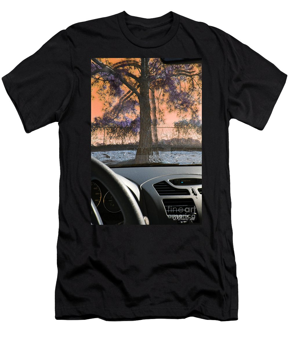 Car Men's T-Shirt (Athletic Fit) featuring the photograph Drunk Drivers Last Mistake by Donna Bentley