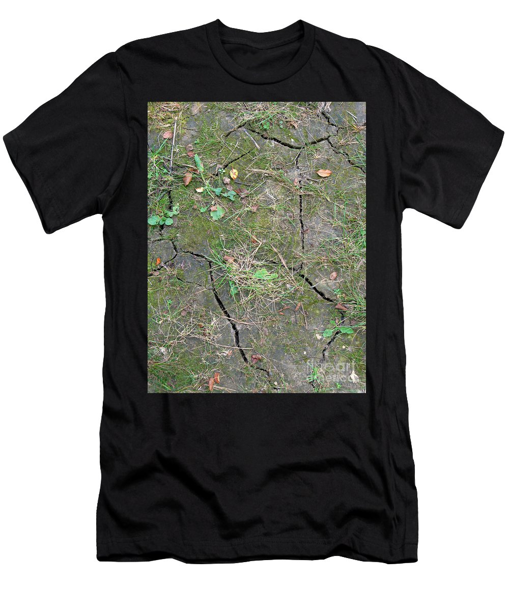 Thirsty Men's T-Shirt (Athletic Fit) featuring the photograph Dry And Thirsty Land by Ann Horn
