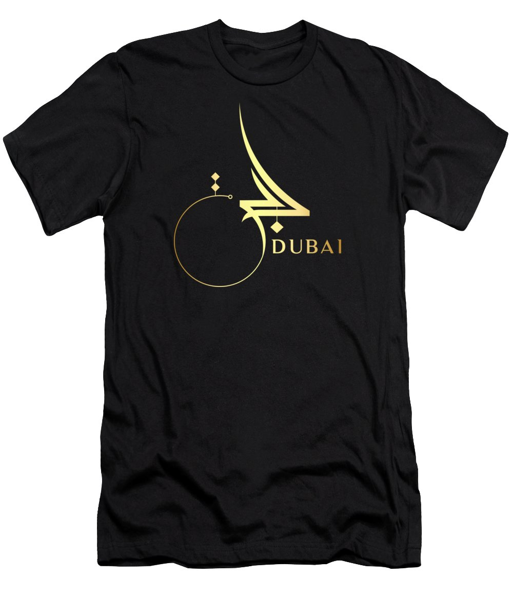 Dubai Men's T-Shirt (Athletic Fit) featuring the drawing Dubai by Tatiana Fedorova