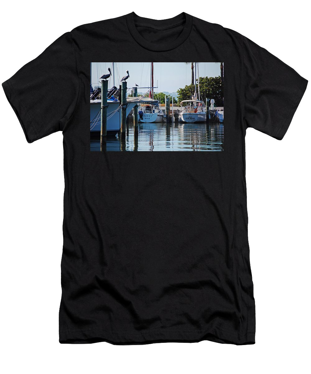 Boats Men's T-Shirt (Athletic Fit) featuring the photograph Duneden Fl. by Robert Meanor
