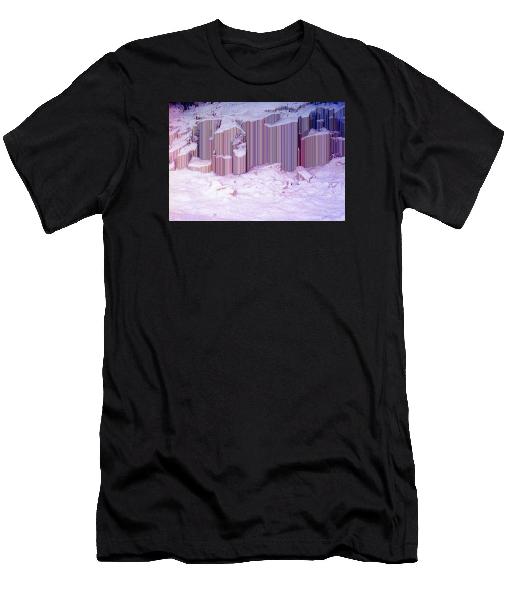 Abstract Men's T-Shirt (Athletic Fit) featuring the photograph During The Snow Fall 33 by Lyle Crump