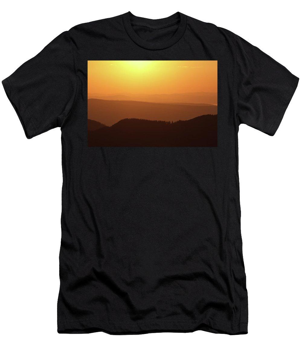 Hill Men's T-Shirt (Athletic Fit) featuring the photograph Dusk At Tatry Mountains, Carpathian Region, Poland by Lukasz Szczepanski