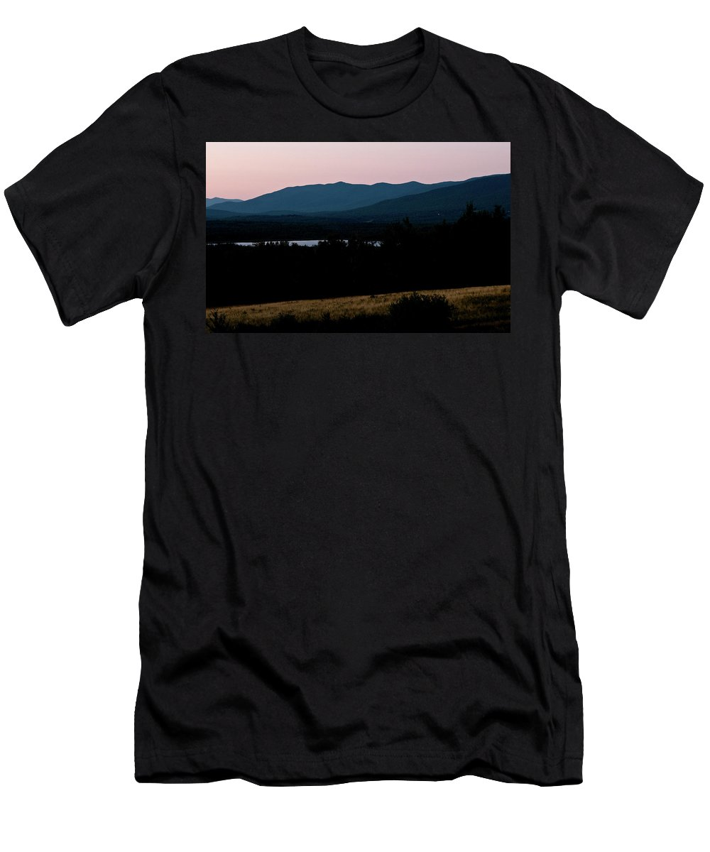 white Mountains Men's T-Shirt (Athletic Fit) featuring the photograph Dusk In The White Mountains by Paul Mangold
