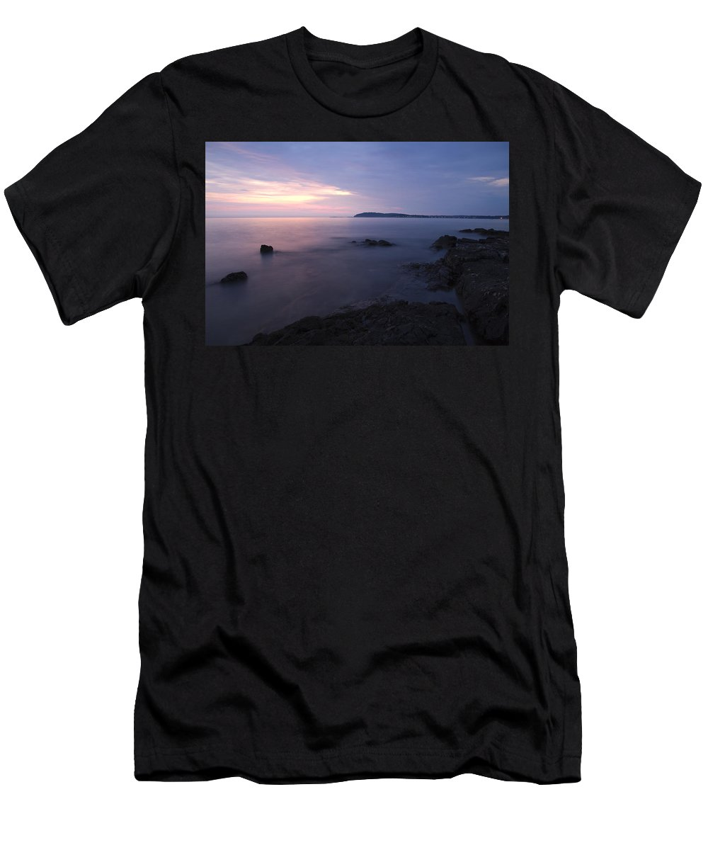 Sea Men's T-Shirt (Athletic Fit) featuring the photograph Dusk On Croatian Istria by Ian Middleton