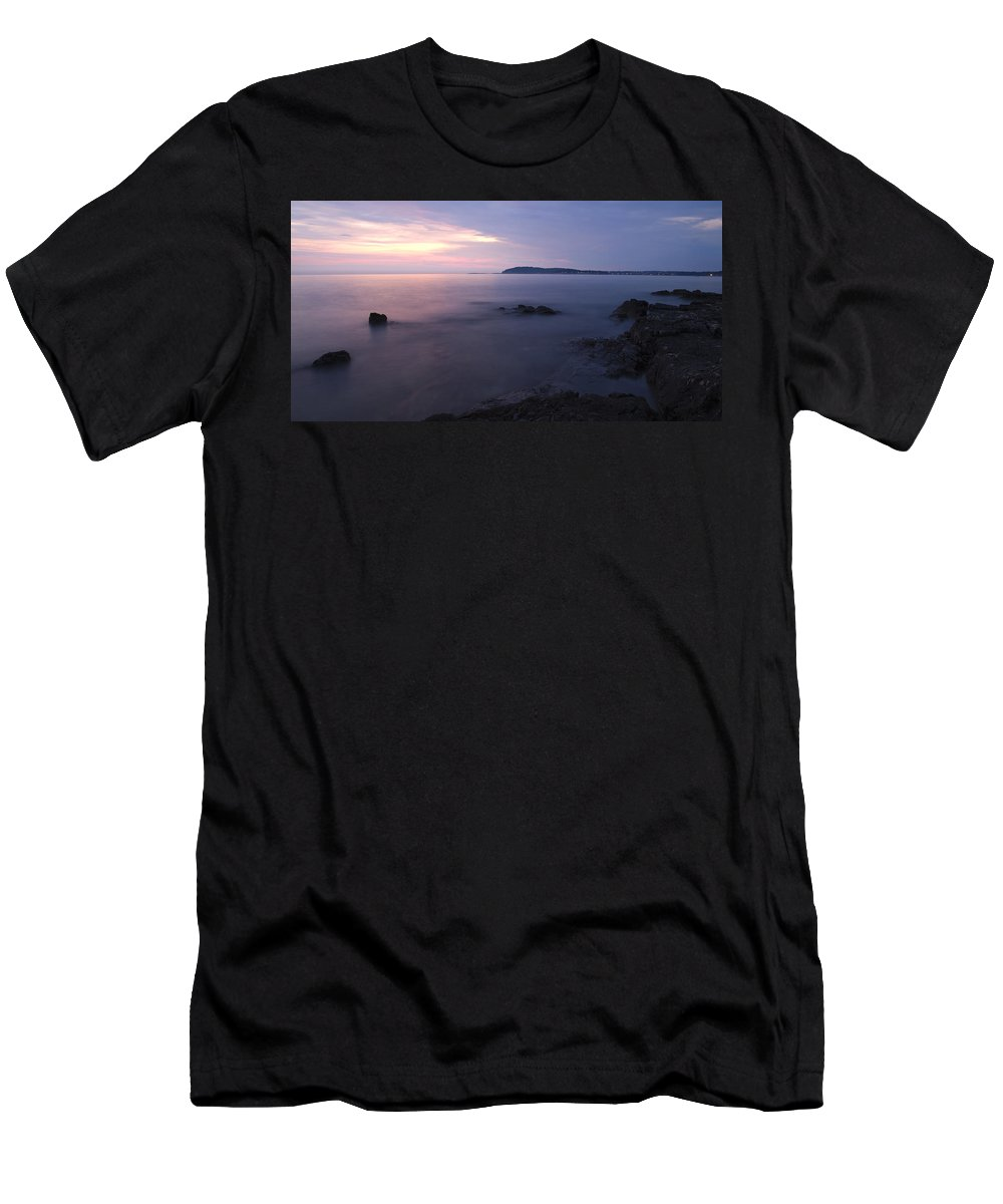 Sea Men's T-Shirt (Athletic Fit) featuring the photograph Dusk On The Adriatic Sea by Ian Middleton