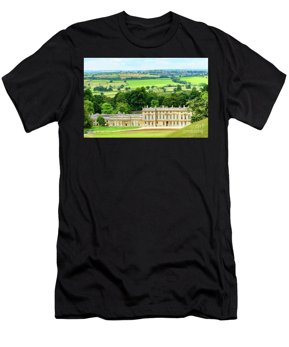 Dyhram Park Men's T-Shirt (Athletic Fit) featuring the photograph Dyrham Park by Colin Rayner