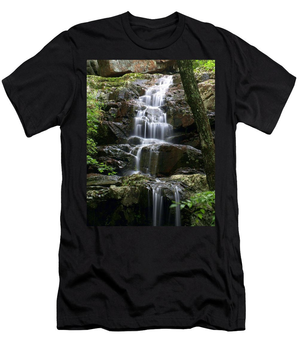 Waterfalls Men's T-Shirt (Athletic Fit) featuring the photograph E Falls by Marty Koch