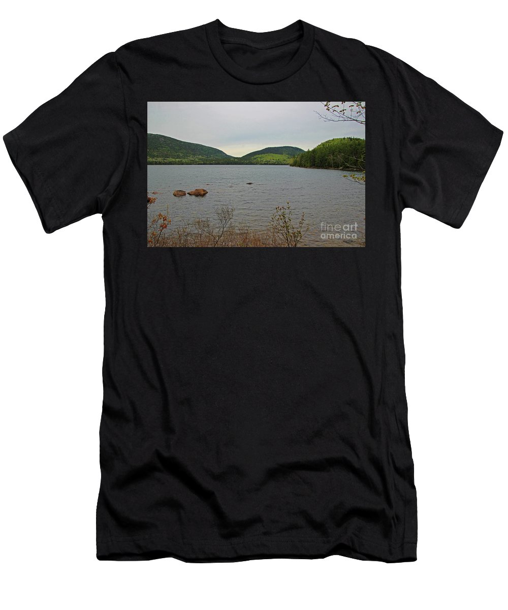 Lake Men's T-Shirt (Athletic Fit) featuring the photograph Eagle Lake by Nicole Engelhardt