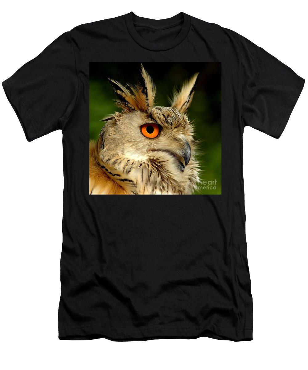 Wildlife Men's T-Shirt (Athletic Fit) featuring the photograph Eagle Owl by Jacky Gerritsen