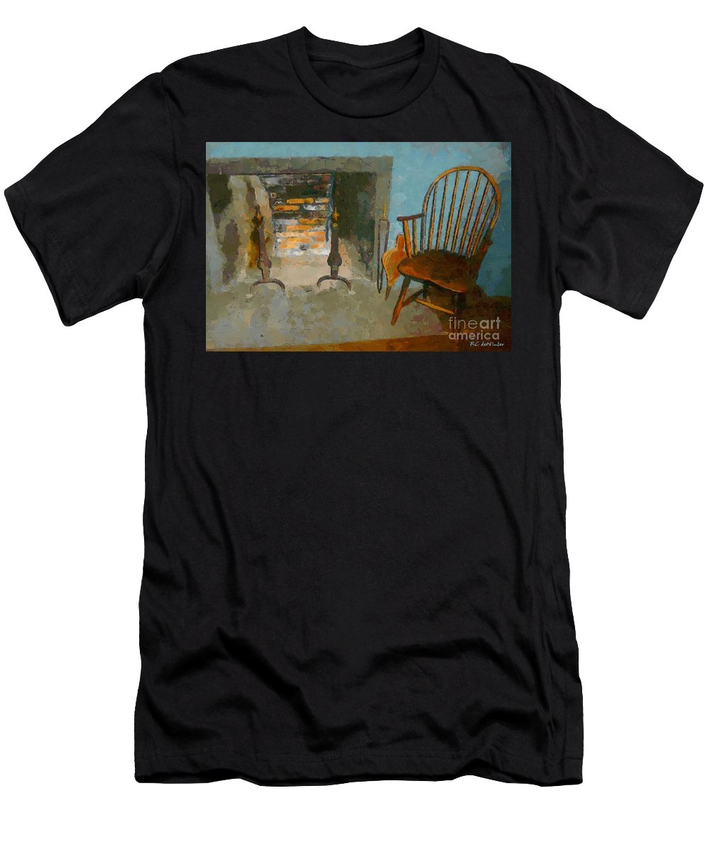 Americana Men's T-Shirt (Athletic Fit) featuring the painting Early American Contemporary by RC DeWinter