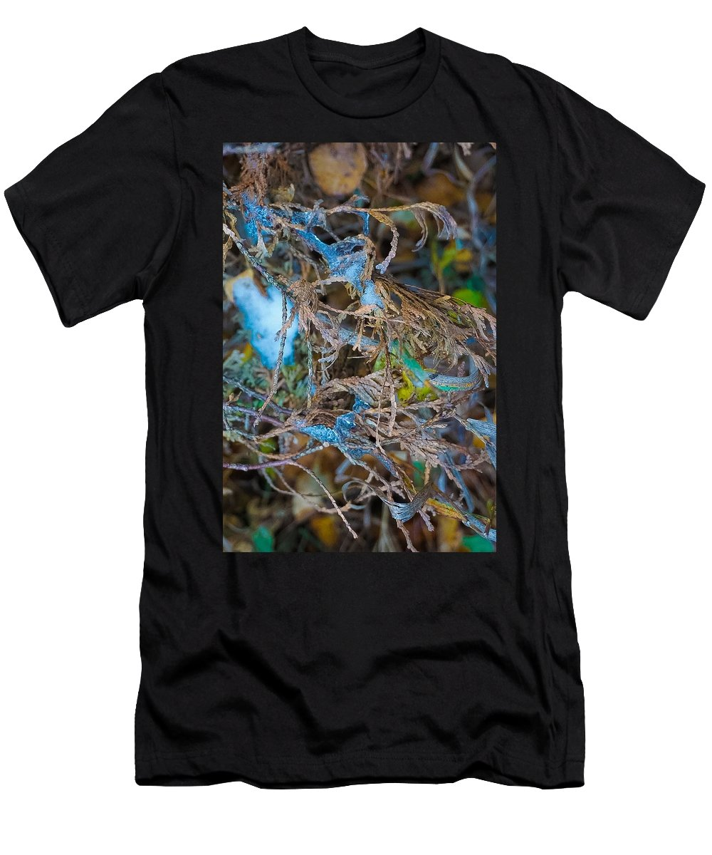 Landscape Photograph Men's T-Shirt (Athletic Fit) featuring the photograph Early Blue Ice by Desmond Raymond