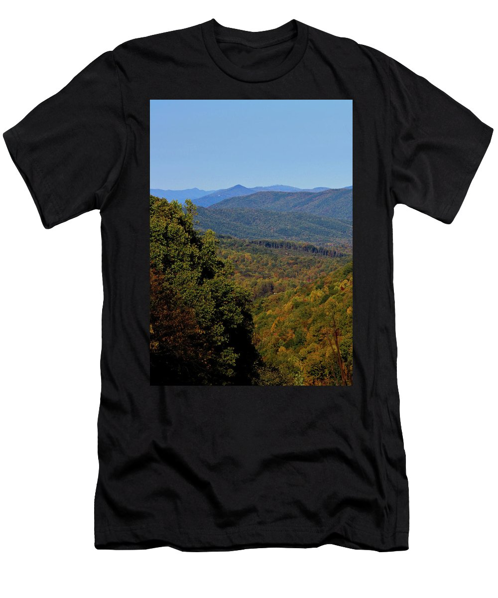 Fall Men's T-Shirt (Athletic Fit) featuring the photograph Early Fall In Virginia by Teresa Mucha