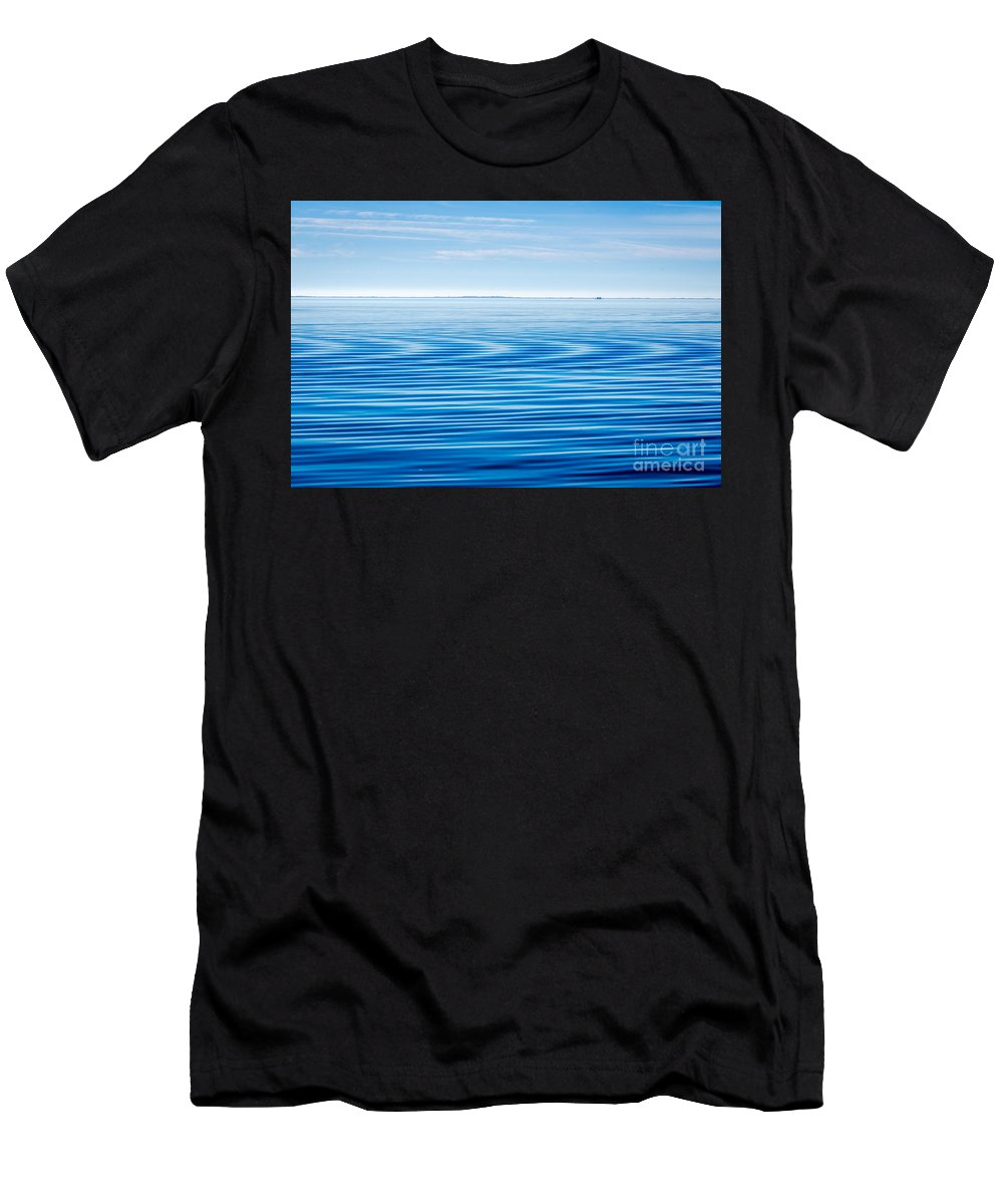 Early Morning Blues Men's T-Shirt (Athletic Fit) featuring the photograph Early Morning Blues by Debra Martz