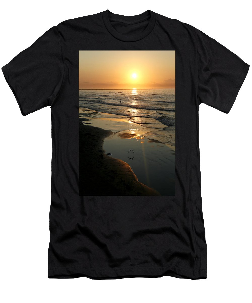 Water Men's T-Shirt (Athletic Fit) featuring the photograph Early Morning Fishing by Marilyn Hunt